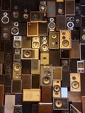 Wall of loud speakers Royalty Free Stock Images