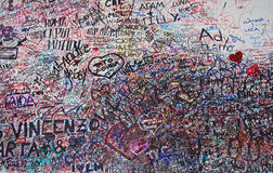 Wall of love messages in Verona Stock Photos
