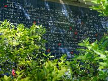 The Wall of Love in Montmartre, Paris France. The Wall of Love in Montmartre, Paris, France stock photo