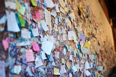 Wall with love notes in Verona Stock Image