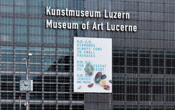 Wall of the Lucerne Culture and Congress Centre building Royalty Free Stock Photo