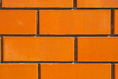 Wall made ​​of ceramic bricks Stock Photography