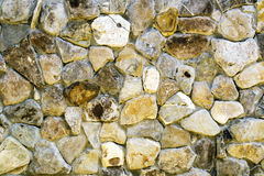 Wall made ​​of stones. Old wall made of rocks and mortar Royalty Free Stock Images