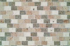 Wall made with blocks of tuff. Wall made with blocks of different varieties of tuff Royalty Free Stock Photography