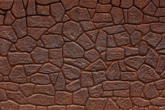 Wall made ​​of bricks color of rusty iron Royalty Free Stock Images
