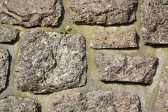 A wall made ​​of stone Stock Photography