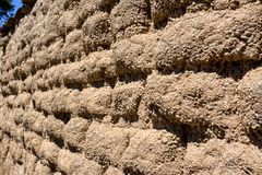 Wall made with adobe bricks Royalty Free Stock Images