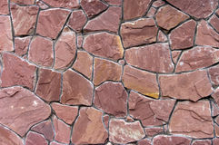 Wall made of artificial stone Royalty Free Stock Photos