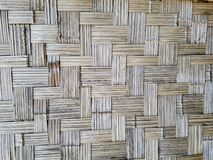 The wall made from bamboo abstract background stock photography