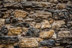 Wall made from big old stones Stock Images