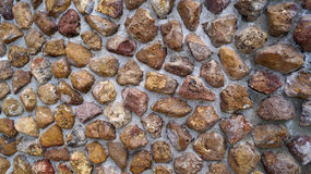 Wall made of big volcanic stones texture background Royalty Free Stock Images