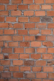 Wall made brick in residential building construction Stock Photos