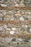 Wall made of brick and stone Stock Photo