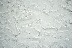 The wall is made of brick and then painted in white. This wall i Royalty Free Stock Photo