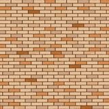 Wall made of bricks. Realistic texture, abstract vector art illustration Royalty Free Stock Images