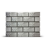 Wall made of bricks showing USA flag. Black and white. Wall made of bricks showing USA flag. Illustration of Immigration`s US Politics since 2017 Royalty Free Stock Image