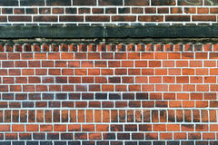 A wall made of bricks. With white interstice Royalty Free Stock Photos