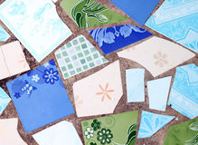 Wall made from broken tile Stock Photos