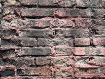 Wall made of clay. A continuous vertical brick or stone structure that encloses or divides an area of land stock images