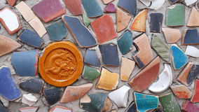 Wall made of Clay Pieces Royalty Free Stock Photography