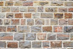 Wall made of cobblestones Stock Image