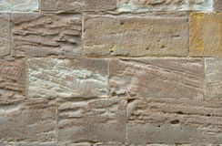 Wall made of colorful sandstone Stock Photography