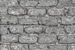Wall made of concrete blocks Stock Photo