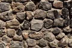 Wall made of flint stone Royalty Free Stock Image