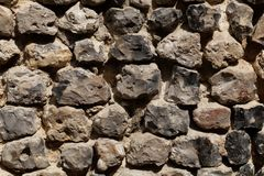 Wall made of flint stone Royalty Free Stock Images