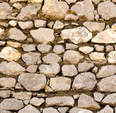 Wall made of granite stones as background Royalty Free Stock Image