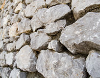 Wall made of granite stones as background Stock Photography