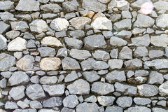Wall made of granite stones as background Stock Images