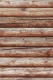 Wall made of logs Royalty Free Stock Image