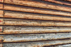 Wall made of logs Royalty Free Stock Photos