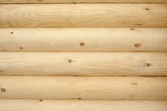 Wall made of logs Stock Images