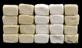 Wall  made of marshmallows Royalty Free Stock Image