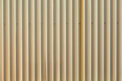 Wall made of metal sheet. Wall made of profiled metal sheet that can be use as a background Stock Image