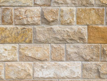 Wall made of natural sandstone Stock Photos