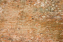 Wall made of old brick  Royalty Free Stock Images