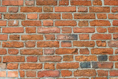 Wall made of old bricks Royalty Free Stock Photo