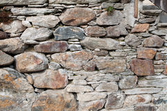 Wall made out of rocks Royalty Free Stock Photography