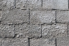 Wall. Made of prefabricated cement blocks Stock Images