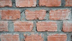 A wall made from the red brick stock image