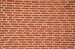 Wall made from red bricks Stock Image