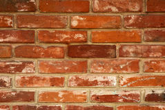 Wall made of red bricks Royalty Free Stock Images