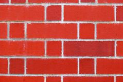 A wall made of red bricks stock images