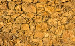 Rock Texture Wall. Wall made of rocks with a wonderful rough texture look Royalty Free Stock Photo