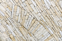 Wall made from sandstone bricks Royalty Free Stock Image