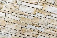 Wall made from sandstone bricks Royalty Free Stock Photo