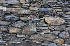 Wall made of shale rock in Cinque Terre Royalty Free Stock Image